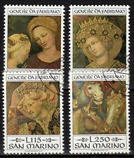 San Marino - 1973 Paintings Fabriano - Mi. 1055-58 VFU
