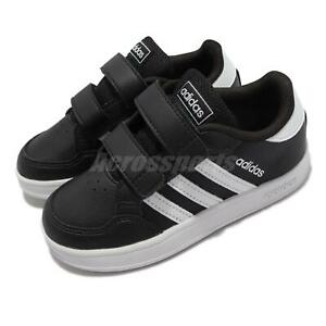 adidas Breaknet I Black White Toddler Infant Strap Casual Shoes Sneakers FZ0091