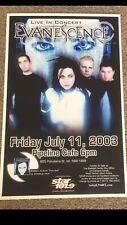 Evanescence 2003 Original Vintage Hawaii Concert Poster