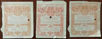Italy, Ministry of Education Of Antiquities And Fine Arts, Tickets x 3 1923