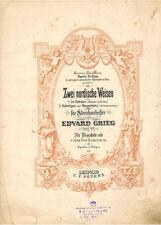 ca.1896 Edvard Grieg ZWEI NORDISCHE WEISEN TWO NORDIC MELODIES