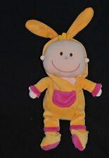 Peluche doudou poupée bebe EVEIL ET JEUX FNAC déguisé en lapin 30 cm Etat NEUF