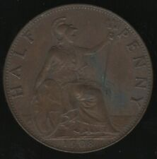 More details for 1908 edward vii halfpenny coin   british coins   pennies2pounds