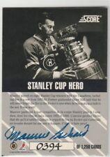 1992 92-93 Score Canadian Olympians Maurice Richard Autograph 394/1250