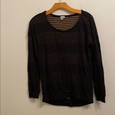 Splendid small black long sleeve sweater