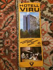 Soviet Estonian Inturist Hotel VIRU brochure 2