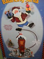"BALANCING SANTA DECORATION 21"" TALL IN ORIGINAL BOX - UNIQUE"