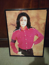 Framed Michael Jackson Double-sided Image from Dangerous Poster Tour Programme