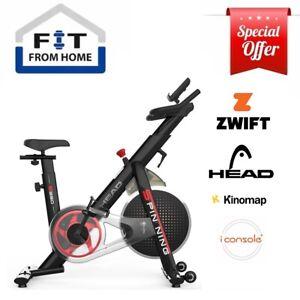 HEAD Fitness Black Spinning Gym Bike ZWIFT Compatible Smart Cycling Machine