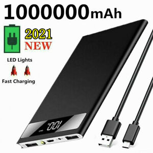 1000000mAh Power Bank Fast Charging USB Charger Battery Pack For Mobile Phone UK