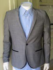 TOPMAN Woolen Dinner Jacket Blazer Grey Size 42/106 Evening Formal Career