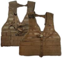 USMC FLC MOLLE II Assault Vest Coyote Brown LBV LBE