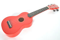Soprano Beginners Ukulele in Red with 4 Free Felt Picks. By Clearwater