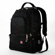 "SWISSGEAR Wenger Laptop Backpack 15.6"" Notebook Schoolbag Black Waterproof 9393"