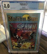 Malibu Sun 13 Error CGC 8.0 VF Spawn Mcfarlane Rare Early Spawn 🔥☠️🔥