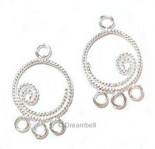 4x Sterling SILVER Chandelier Earring wire Connector