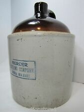 Antique Mercer Bottling Co Trenton New Jersey Large Stoneware Jug early 1900s