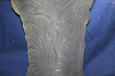 Vintage Czech Bohemian Barolac frosted glass VASE Underwater Sea Coral 8LBS!