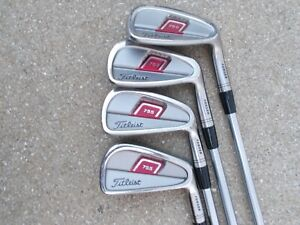 4) Titleist 755 Forged Wedge & 5 7 8 Iron Project Rifle Steel Shaft Golf Clubs