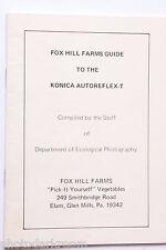 Fox Hill Farms PA Konica Camera Manual Instruction Book Guide English - USED B68