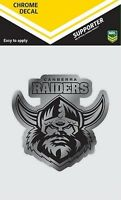 620138 CANBERRA RAIDERS CHROME DECAL NRL CAR STICKERS ITAG