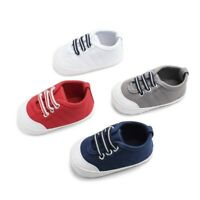 Spring Newborn Baby Boys Girl Color Casual Plaid Denim Soft Bottom Toddler Shoes