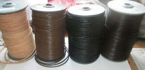 Rind-Lederband 4 / 5 / 7 mm in 4 Farben 1-5 Meter, 10, 20 & 50 Meter. Lederband