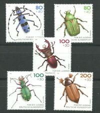 The Beetles! set of 5 mnh stamps 1993 Germany #B745-9
