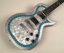 Zemaitis Custom Shop 1 of 1 CS24PF MTP Metal Turquoise Pearl Top with OHSC