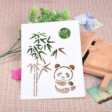 Panda Bamboo Soft Plastic Reusable Template Stencil Spray Paint Mould HomeGarden