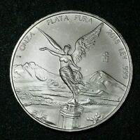 2015 Mexico 1 Oz 999 Fine Silver Mexico Winged Libertad Low Mint 903,000 BU #19