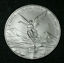 2015 Mexico 1 Oz 999 Fine Silver Mexico Winged Libertad Low Mint 903,000 BU #19