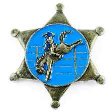 Ele pin prendedor sheriff estrella cowboy rodeo country salvaje oeste