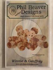 "Phil Beaver designs Winnie & Geoffrey Teddy Bear Pattern 10"" to 12"" Bear"