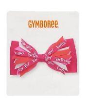 Gymboree Birthday Shop Girl Pink Ribbon Hair Clip Accessory NEW