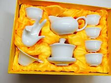 Gaiwan White Tea Set 13 Pcs With Gift Box Best Seller Half Price Now