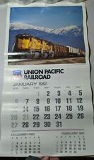 "12.5"" By 22.5"" Vintage 1961 Union Pacific Railroad Hanging Wall Calendar"