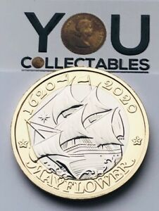2020 £2 Two Pound Coin MAYFLOWER UNCIRCULATED - RARE FREE P&P - BRAND NEW