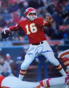 "Len Dawson Signed Autographed 16X20 Photo Kansas City Chiefs ""HOF 87"" GAI COA"
