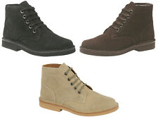 Brand New Mens Classic Suede Desert Boots Black Dark Brown Taupe / Sand  6 - 12