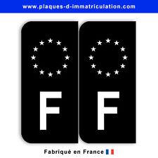 Stickers pour plaque France Europe noir (jeu de 2 stickers gauche)