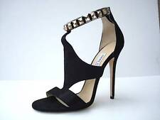 JIMMY CHOO Womens Black HALO Shimmer Suede Crystal High-Heel Pump 10.5-40.5