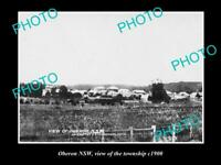 OLD LARGE HISTORIC PHOTO OF OBERON NSW VIEW OF THE TOWNSHIP c1900