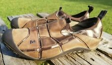 MERRELL Mosaic Chocolate/Camo Brown Leather Athletic Shoes Slip On WOMEN 8