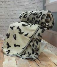 Animal Print Tumble Dry Bed Blankets