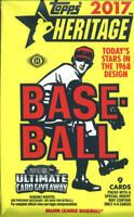 2017 Topps Heritage Baseball Hobby Box Unopened Pack (9 Cards)