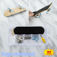 Wooden DIY Mini Finger Skateboard Stress Reliever Mini Skate board Toy Gift AU