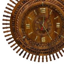 EDOZOS® - Handcrafted Wood Decorative Wall-Clock (Rosewood- Sheesham) Wall Clock