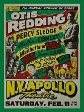 "Otis Redding / Percy Sledge Apollo 16"" x 12"" Photo Repro Concert Poster"