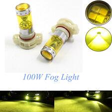 H16 100W High Power LED 3000K YELLOW Fog Light Lamps Bulbs